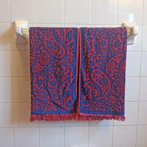 Paisley Vintage 70s Towels